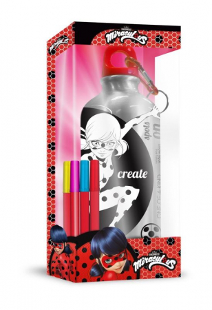 Sticla apa aluminiu de colorat Ladybug 500 ml0