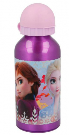 Sticla apa Frozen aluminiu mov 400 ml0