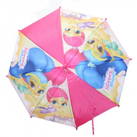 Umbrela manuala Shimmer Shine maner roz 42 cm1