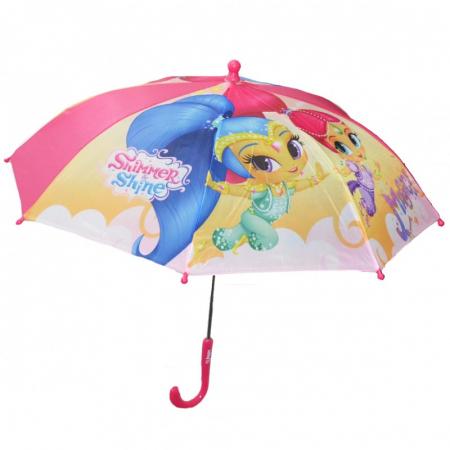 Umbrela manuala Shimmer Shine maner roz 42 cm0