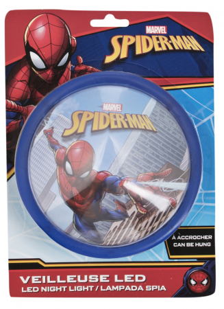 Veioza lampa Led push Spiderman14 cm albastru1