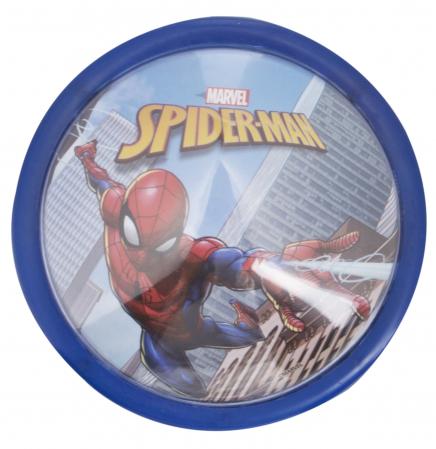 Veioza lampa Led push Spiderman14 cm albastru [0]