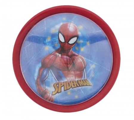 Veioza lampa Led push Spiderman14 cm rosu [0]