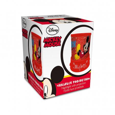 Veioza lampa Mickey Mouse cu proiectie rosu 11.5 cm2