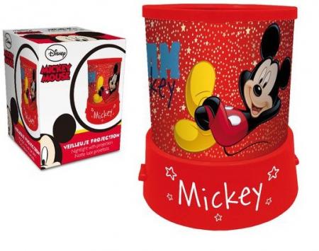 Veioza lampa Mickey Mouse cu proiectie rosu 11.5 cm1