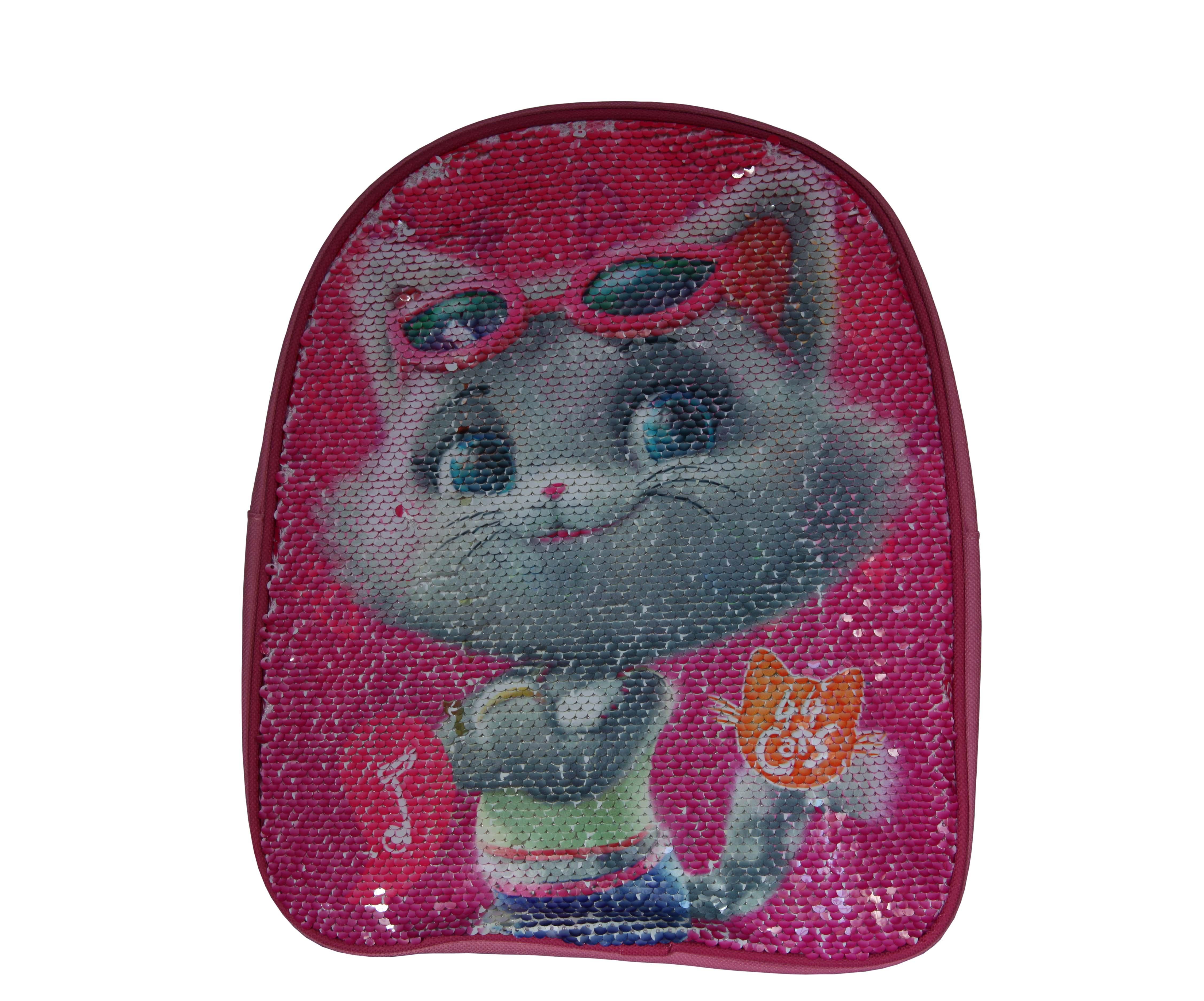 Ghiozdan gradinita cu paiete reversibile 44 Cats, roz 30x26x10 cm 1