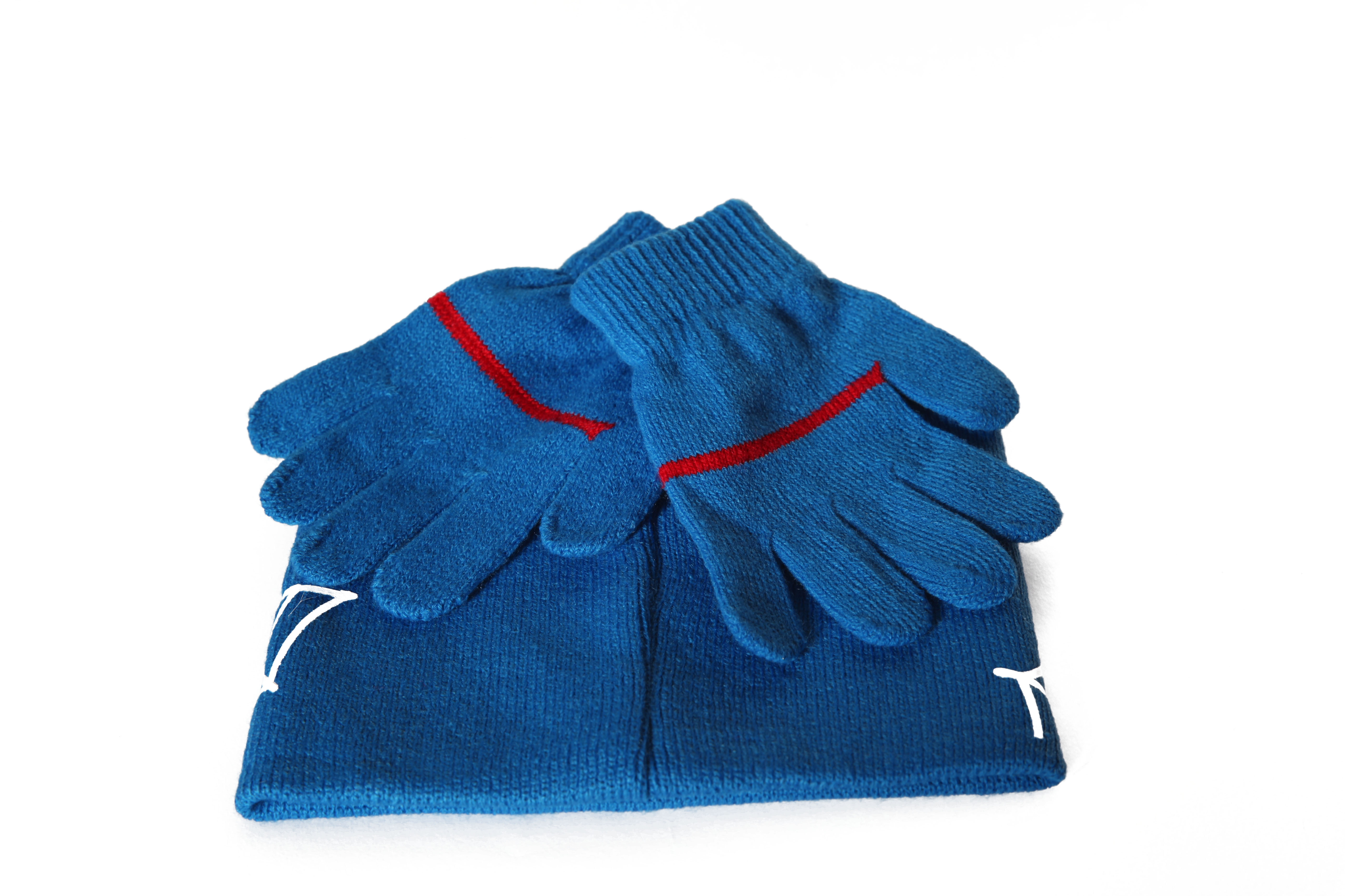 Set caciula+manusi Spiderman, albastru 52 cm1