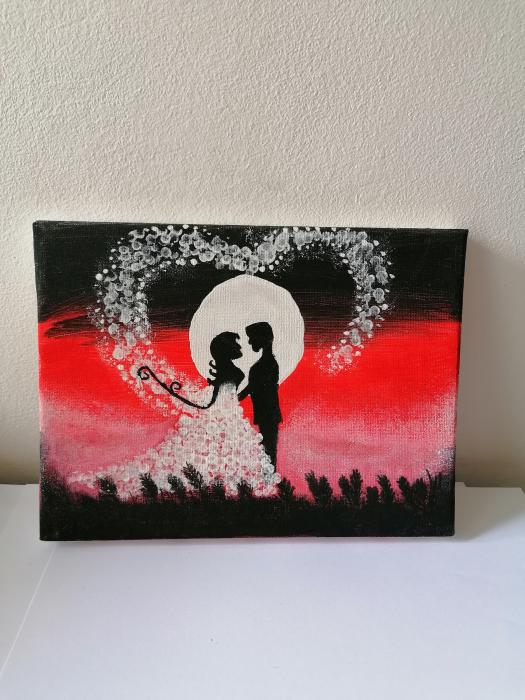 Tablou pictat manual - Nunta în cer 0