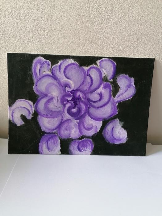 Tablou pictat manual - Orhidee decorativă 0