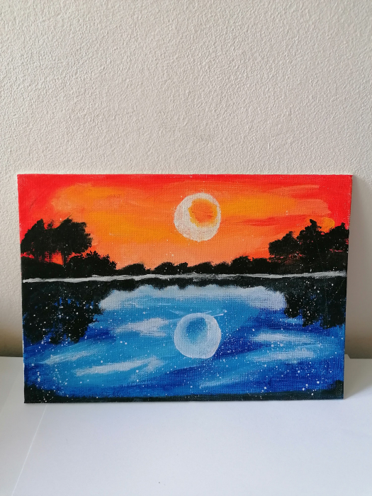 Tablou pictat manual - Cerul se unește cu marea 0