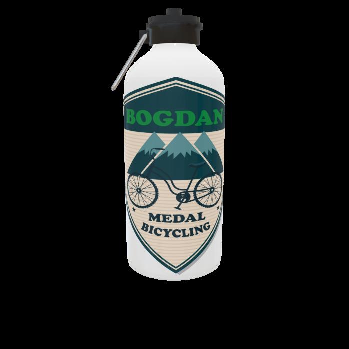 Bidon sport argintiu personalizat 750 ml 1
