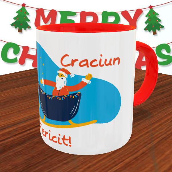 """Cană personalizată """"Crăciun fericit"""" 0"""