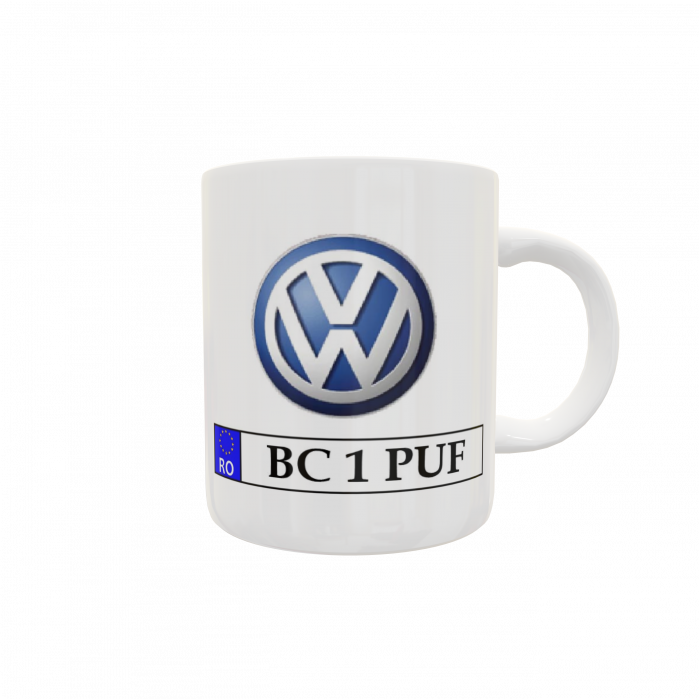 Cană personalizată auto - Volkswagen 0