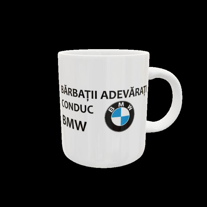 Cană personalizată cu Auto-Bărbații adevărați conduc BMW 0