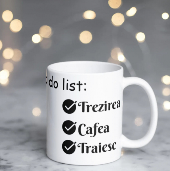 Cană personalizată - To do list 3