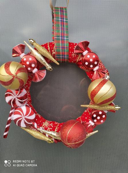 coronita-craciun-handmade-pentru-usa-sweet 0