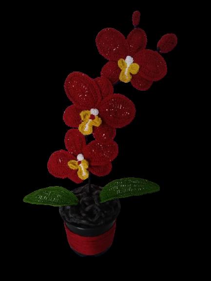 orhidee-crosetata-handmade-3-flori 1