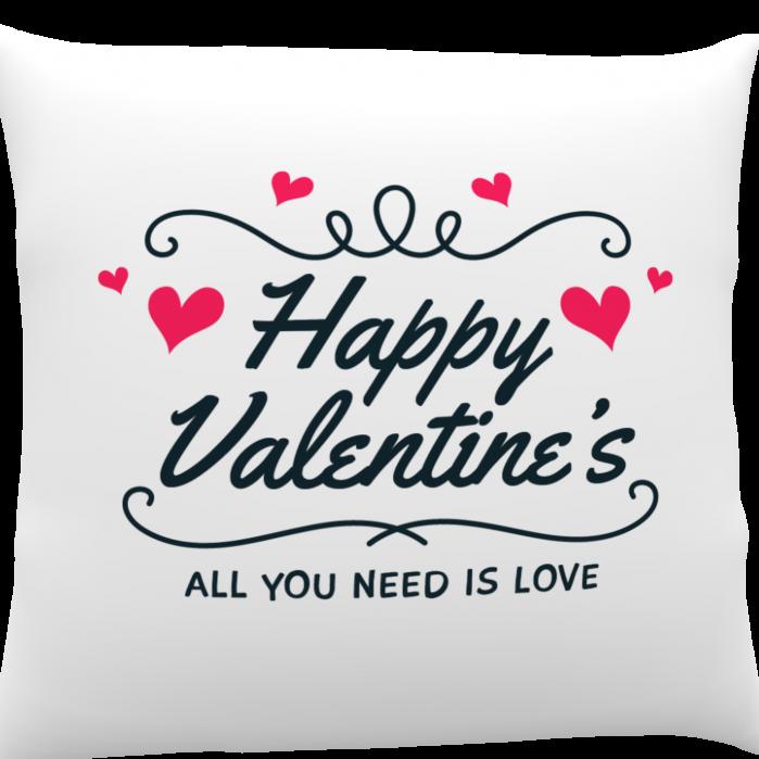 Pernă personalizată Happy Valentine`s 1