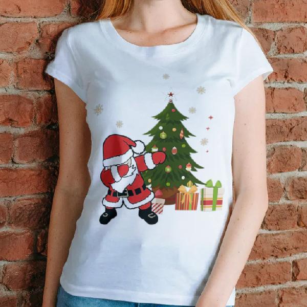 tricou-personalizat-santas-dancing-alb-unisex 0
