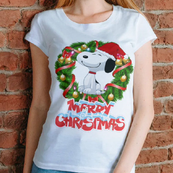 tricou-personalizat-snoopy-merry-christmas-alb-unisex 0