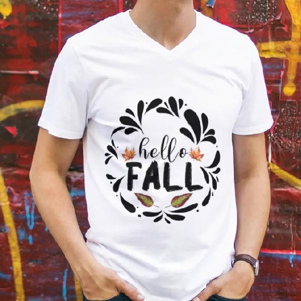 tricou-personalizat-hello-fall-alb-unisex 0