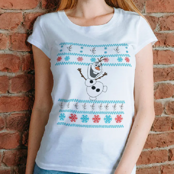 tricou-personalizat-olaf-and-christmas-alb-unisex 0