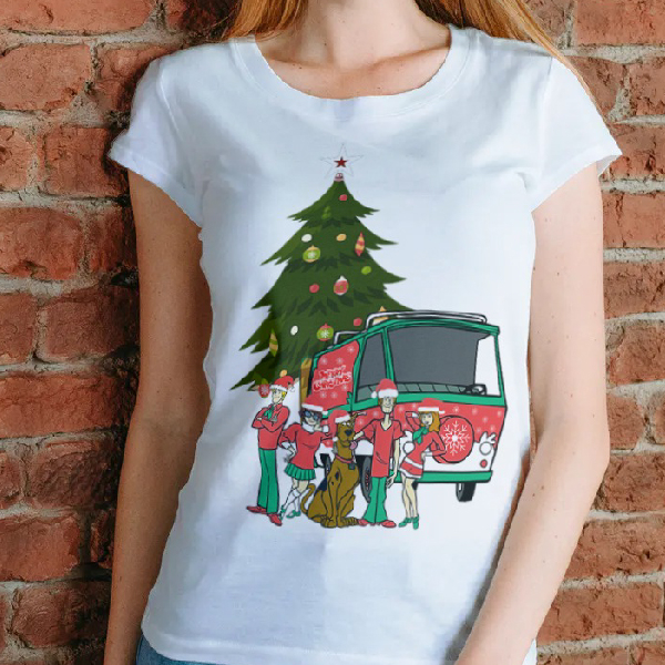 tricou-personalizat-scooby-doo-and-christmas-alb-unisex 0