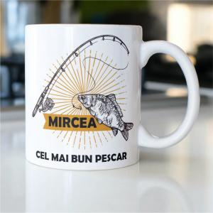 """Cană personalizată """"Cel mai bun pescar""""0"""