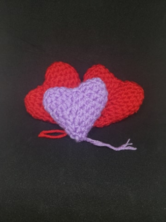 Inimioare croșetate handmade0