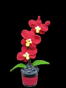 Orhidee croșetată handmade 3 flori3
