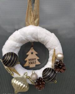 """Coroniță Crăciun handmade pentru ușă """"Elegance"""", 25 cm ∅1"""