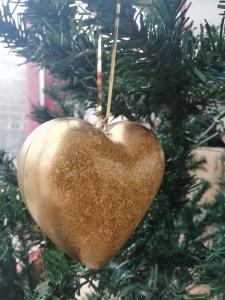 Set 2 globuri Crăciun Gold Heart2