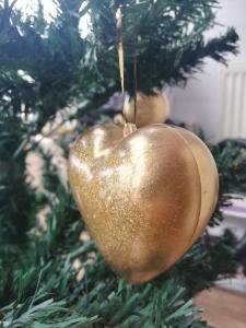 Set 2 globuri Crăciun Gold Heart3
