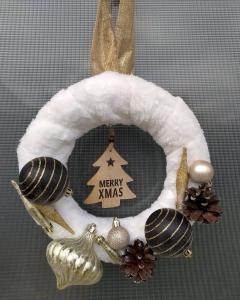 """Coroniță Crăciun handmade pentru ușă """"Elegance"""", 25 cm ∅0"""