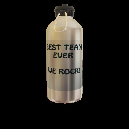 Bidon sport argintiu personalizat Best Team1