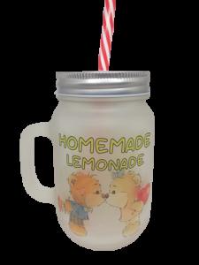 Cană de sticlă personalizată - Homemade, Limonade1