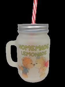 Cană de sticlă personalizată - Homemade, Limonade2