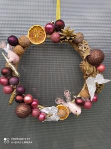 """Coroniță Crăciun handmade pentru ușă """"Fantasy"""", 30 cm ∅2"""