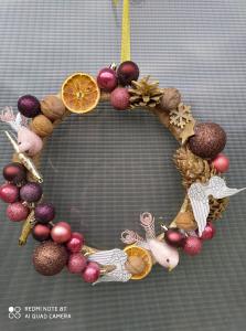 """Coroniță Crăciun handmade pentru ușă """"Fantasy"""", 30 cm ∅0"""