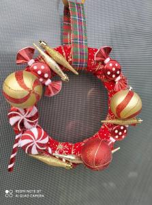 """Coroniță Crăciun handmade pentru ușă """"Sweet"""", 25 cm ∅1"""