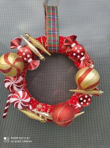 """Coroniță Crăciun handmade pentru ușă """"Sweet"""", 25 cm ∅0"""