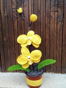 Orhidee croșetată handmade 2 flori1