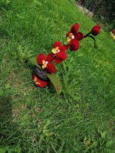 Orhidee croșetată handmade 3 flori6