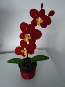 Orhidee croșetată handmade 3 flori4