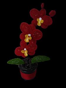 Orhidee croșetată handmade 3 flori1