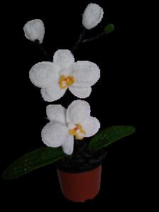 Orhidee croșetată handmade 2 flori0