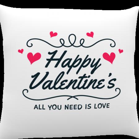 Pernă personalizată Happy Valentine`s1