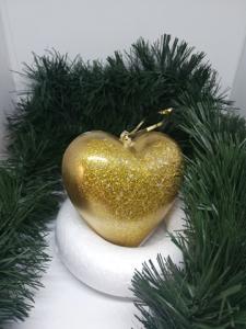 Set 2 globuri Crăciun Gold Heart0
