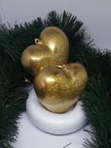 Set 2 globuri Crăciun Gold Heart1