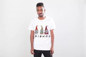 Tricou personalizat Friends, Alb, Unisex1